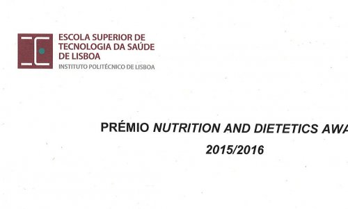 Prémio Nutrition and Dietetics Award 2015/2016